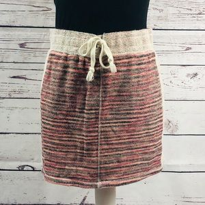 MAURICES Striped Casual Drawstring Mini Skirt